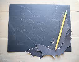 Diy Halloween Flying Bat Mantel | Free Bat Template - Ella Claire