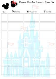Itinerary Template Fantasy Cruise Free World Disney Travel – Vanilja