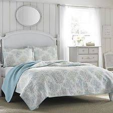 Laura Ashley Nautical Quilts, Bedspreads & Coverlets | eBay & Full,Queen Laura Ashley Blue/White 3 PC Cotton Reversible Quilt,Bedspread  Set Adamdwight.com