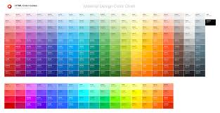 Color Shade Chart Color Chart Html Color Codes