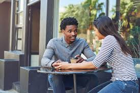 Image result for 2 people listening to each other outside  image