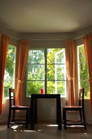 Small Bay Window Curtains For Windows Idea In The Daytime Do This Curtain  Pole