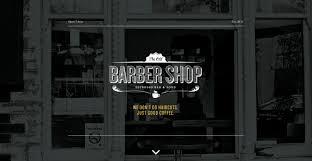Barber Shop Website The Old Barber Shop One Page Website Award