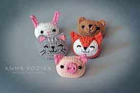Cat, Fox, Bear, Pig, Rabbit Applique pattern by Anna Vozika - Ravelry
