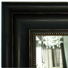 Montreal Distressed Antique Black Gold Framed Wall Mirror West