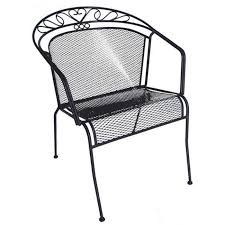 black wrought iron patio furniture. wrought iron low back patio chair black furniture s
