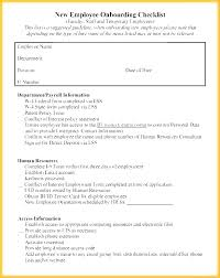 Employee Hire Forms New Employee Checklist Template Letter Of Intent Email File