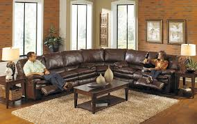 23 elegant modern leather sectional sofa with recliners pics