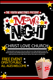 Free Movie Night Flyer Templates Movie Night Templates Magdalene Project Org