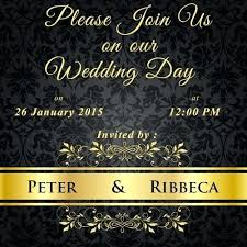 Wedding Invitation Video For Gold Royal Templates By Whatsapp Maker