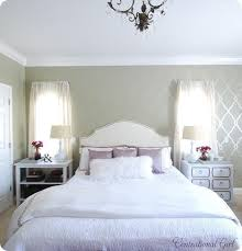 black or white furniture. colors light grey walls cream headboard white and purple bedding splash of black or furniture y