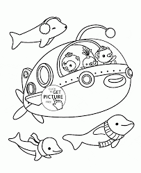 Small Picture Cartoon Submarine coloring page for toddlers transportation