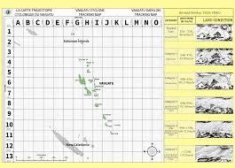 NDMO) - Vanuatu Cyclone Tracking Map