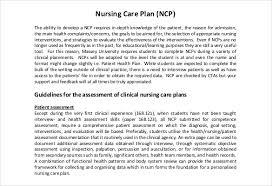 Nursing Care Plan Templates 20 Free Word Excel Pdf Documents