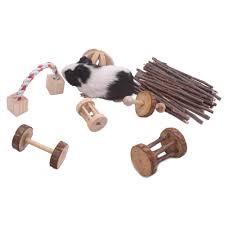 com guinea pig toys chinchilla hamster rat chews toys bunny rabbits gerbil molar wooden pack