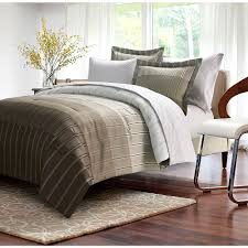 ombre stripe 8 piece taupe king bed in bag set