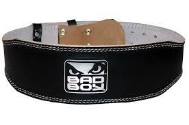 leather weight lifting belt bad boy