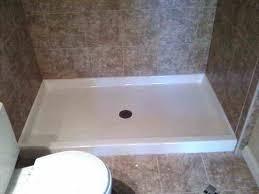 install fiberglass shower pan install tile over fiberglass shower pan