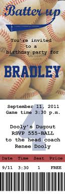 Create Tickets Template I Love The Idea Of An Invite Like This To A Baseball Game B'day 22