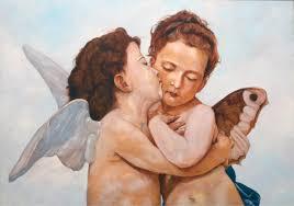 fine art angels after bouguereau original oil painting on canvas by artist darko topalski