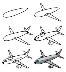 Airplane Drawing Drawing A Cartoon Airplane