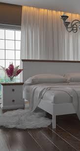 Белая деревянная <b>кровать Кантри</b> ТМ Албена с прикроватной ...