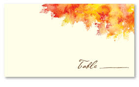 Fall Place Cards Wedding Place Cards Fall Colors By Foreverfiances
