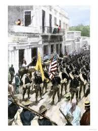 U.S. Troops Entering Ponce, Puerto Rico, During the Spanish-American War,  c.1898' Giclee Print | AllPosters.com