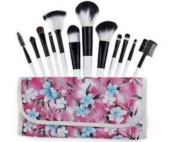 surecure professional cosmetic brush kit with fl pouch 12 piece pink new