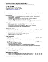 Resume Templates Chemical Engineering Objectives Example How To