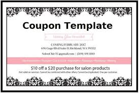 10 Off Coupon Template Free Coupon Template Printable Ms Word Design Format