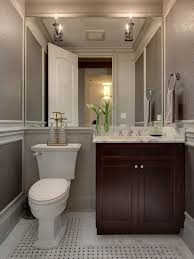 Powder Room Design Ideas im liking the grey walls and the mirror across the back of the wall