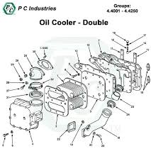 oil cooler series 92 detroit diesel engines catalog page 185 92 oil cooler double pg185 188 jpg diagram