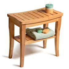 bathroom bench. shower bench seat (bamboo) w/ storage shelf bathroom stool bath spa chair deluxe e