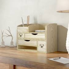 Cute desk organizer Makeup Desk Riaria Adjustable Wooden Desktop Organizer Office Supplies Storage Shelf Rack The Container Store Desktop Organization Youll Love Wayfair