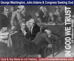 Image result for George Washington (bottom) and Vice President John Adams (center left) signed