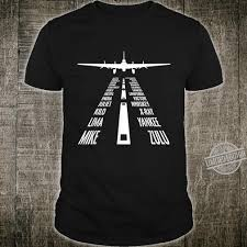 The most widely used spelling alphabet is the nato phonetic alphabet, which is also used in aviation like in communication between a pilot and the control tower. Flying B17 Flying Fortress Pilot Landing Phonetic Alphabet Shirt