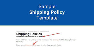 Sample Shipping Policy Template Termsfeed