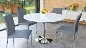 white and grey dining table set exquisite modern white round dining table for 4 room ideas