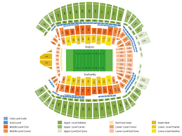 35 Described Qwest Field Seat Map