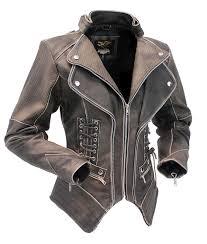 Women's Brown Vintage Steampunk Leather Jacket w/CCW Pocket #LA15070XZZN