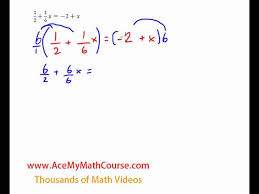 equations variables on both sides with fractions quick explanation