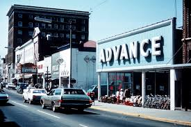 advance main street 1970 c ville images archives auto parts s were once mon along main street in downtown charlottesville but after the