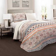 ... Nesco Quilt Navycoral Piece Set King Walmartcom Pics With Outstanding Coral  Colored Bedding Sets Of C ...
