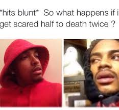 Hits the Blunt Meme Scared Twice - Weed Memes via Relatably.com