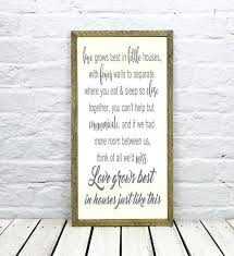 Small Picture love grows best in little houses Song Lyric wall art barn wood