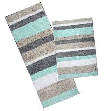 maximum absorbency the bathroom rugs runner set of 2 pcs are constructed utilizing absorbent material to soak up excess water after exiting the bath