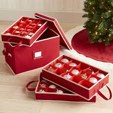 Christmas Decorations Storage Box Ornament Storage Box With Dividers Pier 100 Imports 29