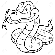 Cartoon Snake Drawing At Getdrawingscom Free For Personal Use