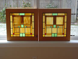 custom cabinet door stained glass panels by jack chapman